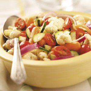 Garden Fresh Summer Vegetable Salad