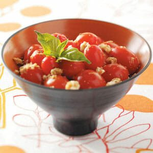 Warm Garlicky Grape Tomatoes