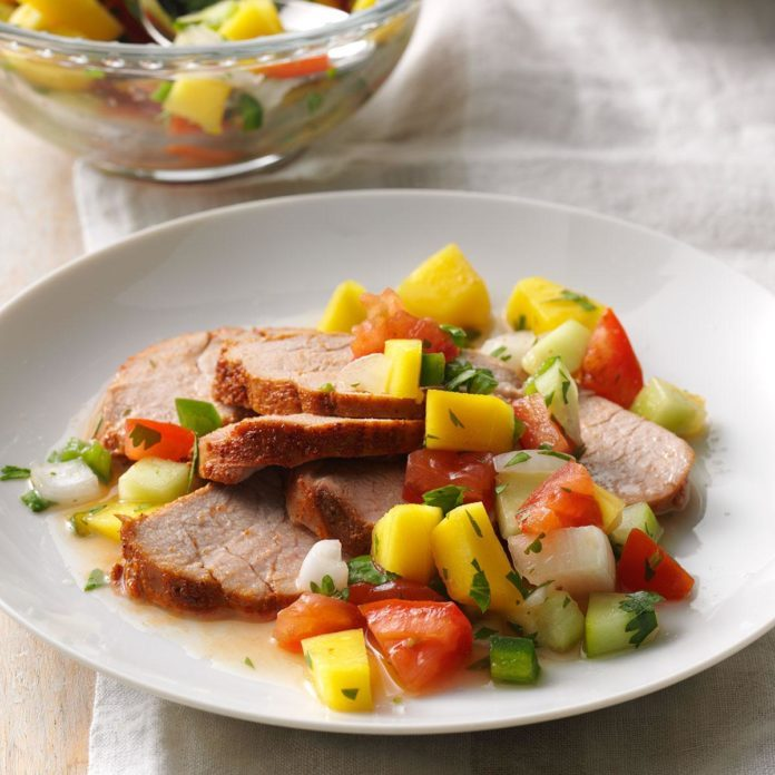 Pork Tenderloin with Mango Relish