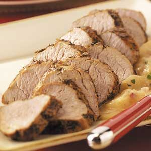 Pork with Apple-Cream Sauce