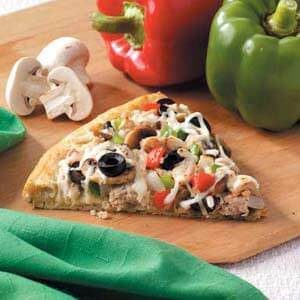 Veggie Turkey Pizza