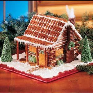 Log Cabin Christmas.Pretzel Log Cabin