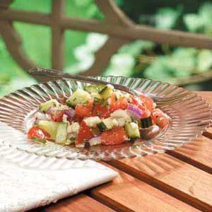 Herbed Tomato Cucumber Salad