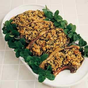 Lamb Chops with Mint Stuffing
