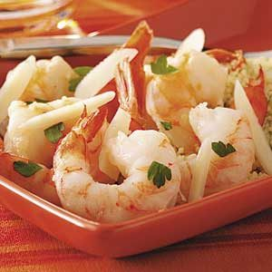 Shrimp Scampi with Lemon Couscous