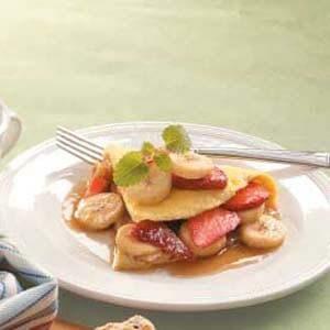 Strawberry Banana Omelet