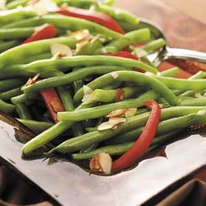 Green Beans with Red Pepper