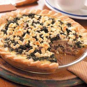 Spinach Venison Quiche