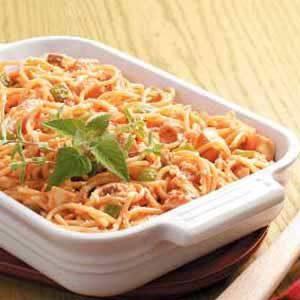 Spaghetti Chicken Bake