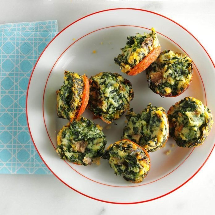 Wednesday's Breakfast: Mini Spinach Frittatas