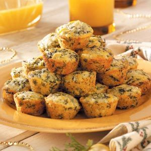 Spinach-Corn Bread Bites