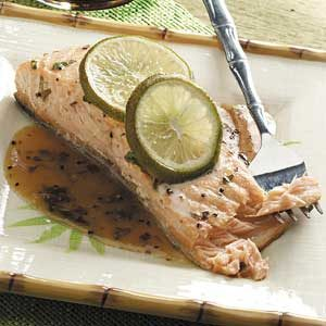 Lime Salmon with Soy Sauce