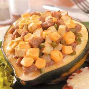 Apple Sausage-Stuffed Squash