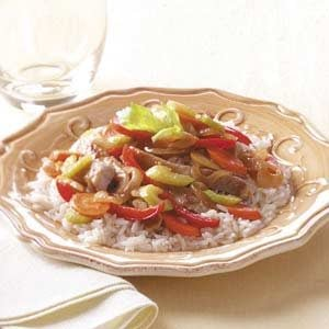 Apple Pork Stir-Fry