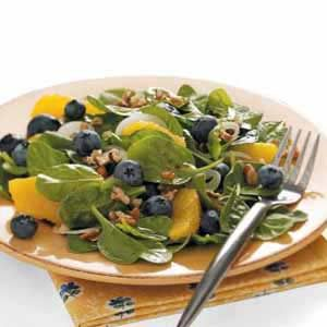 Spinach Salad with Curry Dressing