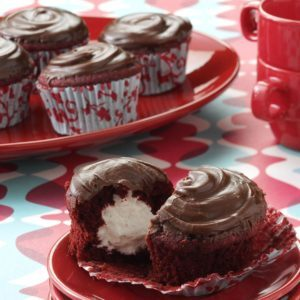 Surprise Red Cupcakes