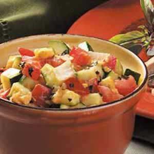 Cheddar Zucchini Saute