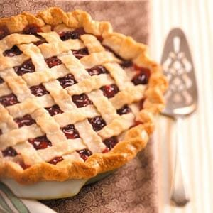 Cranberry-Cherry Lattice Pie