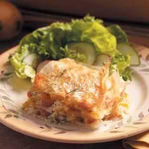 Ham-Potato Phyllo Bake