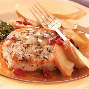 Apple-Cherry Pork Chops