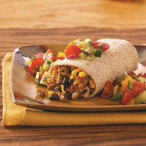 Turkey Burritos With Fresh Fruit Salsa Recipe Taste Of Home