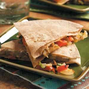 Goat Cheese 'n' Veggie Quesadillas