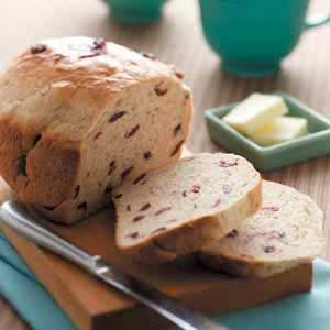 Tender Cranberry Oat Bread