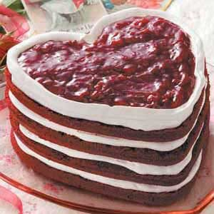 Red Velvet Heart Torte