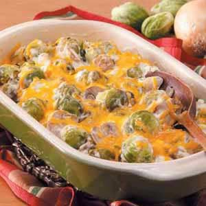 Creamy Brussels Sprouts Bake
