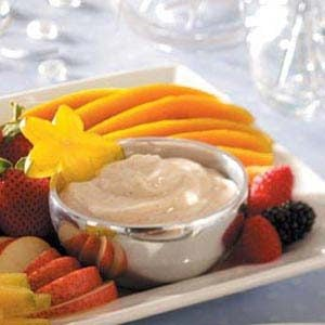 Spiced Sour Cream Dip (with fruit)