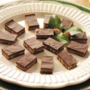 Caramel-Nut Candy Bars
