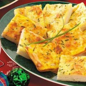 Cheese 'n' Egg Pizza Squares