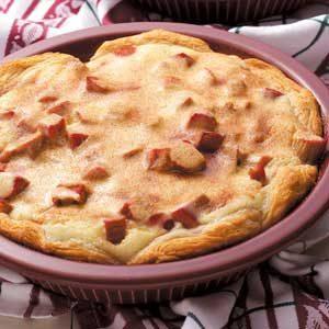 Rhubarb Biscuit Coffee Cakes