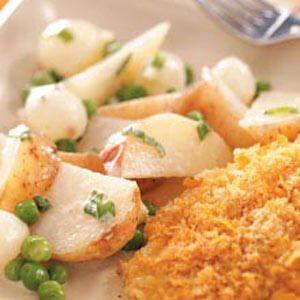Potatoes, Peas & Pearl Onions