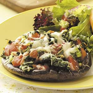 Spinach-Stuffed Portobellos