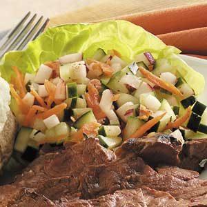 Veggie Salad in Lettuce Cups