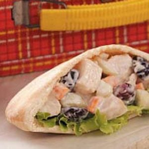 Crunchy Chicken Salad Pitas