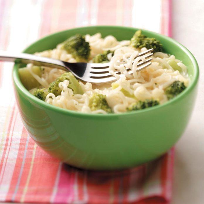 Ramen Broccoli Soup