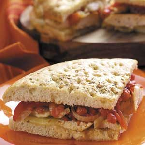Roasted Pepper Chicken Sandwiches