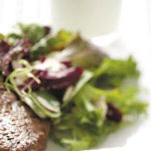 Mixed Greens with Garlic-Basil Vinaigrette