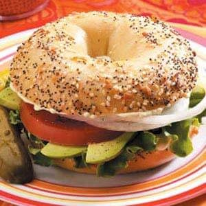 Hearty Veggie Bagel Sandwiches