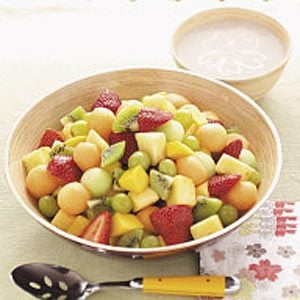 Fruit Salad with Banana Dressing