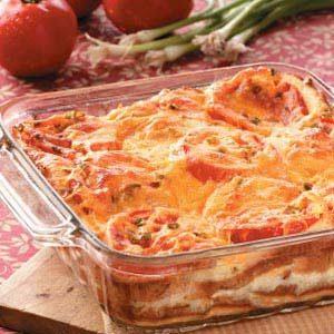 Tomato and Cheese Strata