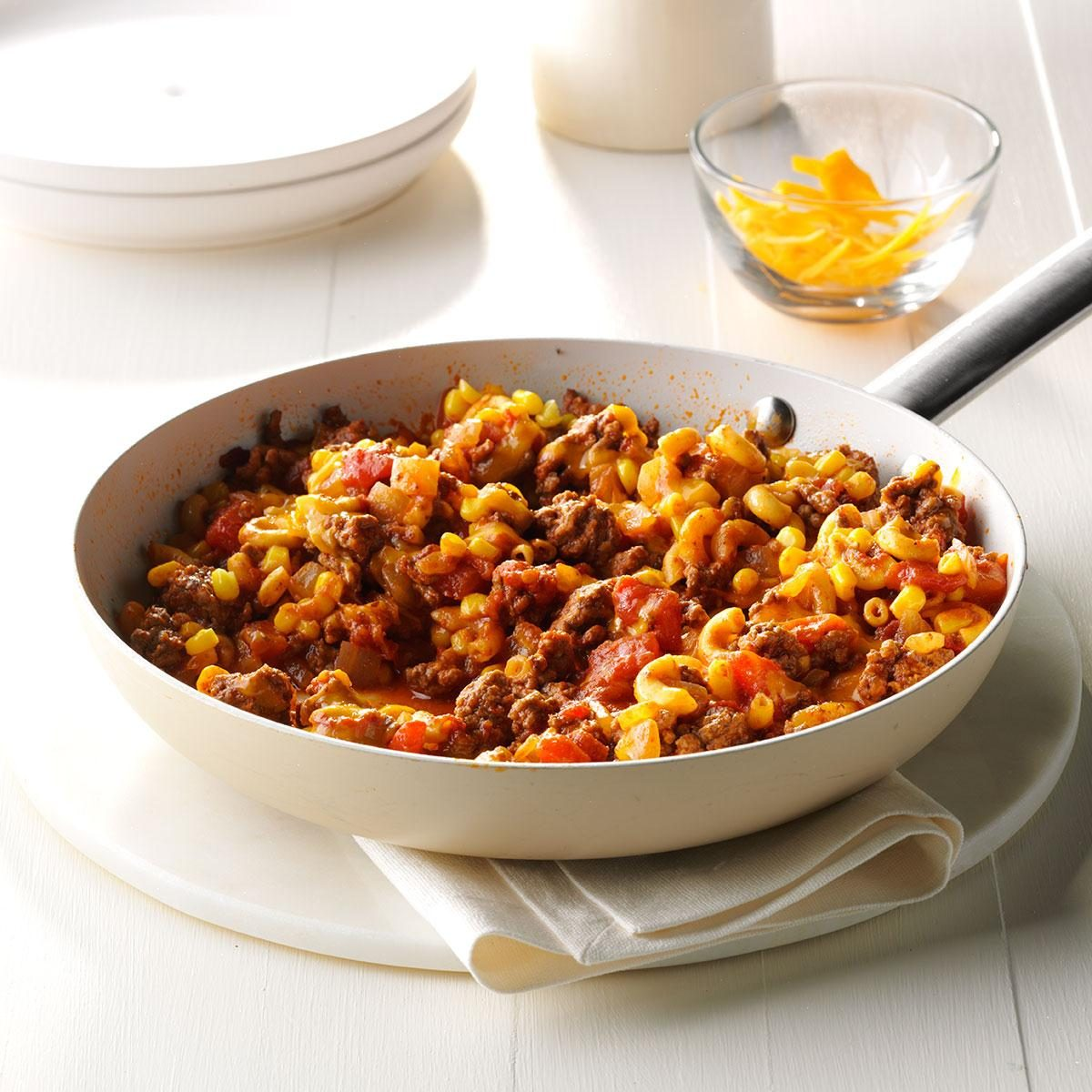 Stuff To Make With Ground Beef: Mexi-Mac Skillet Recipe