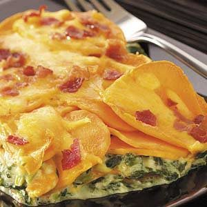Sweet Potato Spinach Bake