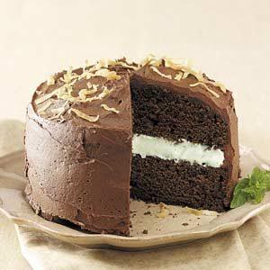 Coconut-Mint Chocolate Cake