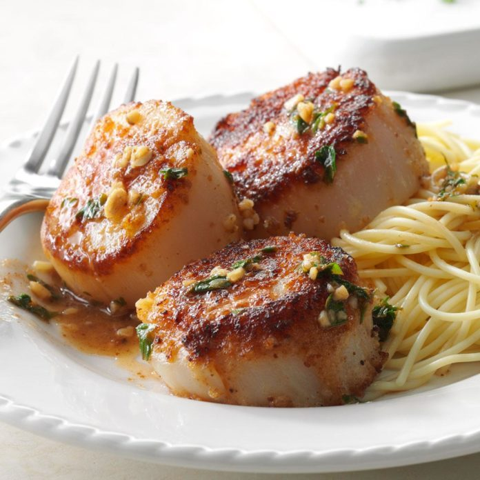 Skillet Sea Scallops Recipe Taste Of Home