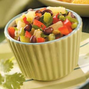 Bean and Pineapple Salsa