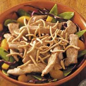 Crunchy Asian Pork Tenderloin Salad