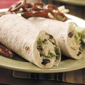 Turkey Apple Salad Wraps
